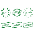 Pasta stamps vector image vector image