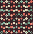 retro brown circle seamless pattern vector image vector image