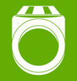 ring icon green vector image vector image