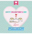 Romantic card22 vector image vector image