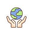 save earth icon world vector image