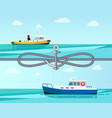 sea transport color banner vector image