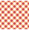 seamless table cloth texture in red-orange color vector image vector image