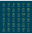 set basic green outline icons for print or web vector image