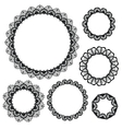 Set of crochet lacy frames vector image