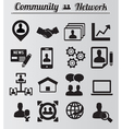 Set of network and community icons vector image vector image