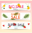 set of sale banners design discounts and special vector image