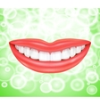 Smile Smiling lips vector image vector image