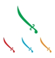 Sword sign Colorfull set vector image