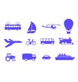 symbols vehicles vector image vector image