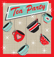 Tea party invitation vector image vector image