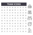 team line icons signs set outline vector image vector image