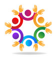 teamwork friends together icon vector image vector image