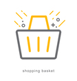 Thin line icons shopping basket vector image