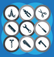 tools icons set includes icons such as clamp vector image vector image
