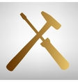 Tools sign Flat style icon vector image vector image