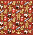 traditional christmas food seamless pattern vector image