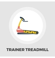 Trainer treadmill icon flat vector image