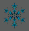 winter snow flake vector image vector image