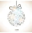 Christmas Snowflake Bauble vector image