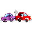 Cartoon car accident vector image