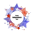 Happy Independence Day greeting card vector image
