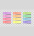 colorful sticky notes stickers with vector image