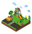 3d design for playground and road vector image vector image