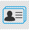 Account Cards Icon vector image vector image