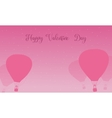 Air balloon valentine day theme vector image vector image