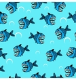 Angry sea fish seamless pattern vector image vector image