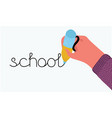 back to school hand writing drawing pen vector image