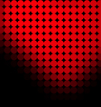 black background with red dots vector image