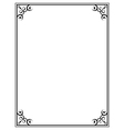 black ornate frame on a white background vector image vector image