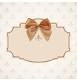 Blank banner with golden ribbon and a bow vector image vector image