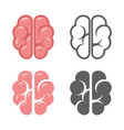 brain logo symbol education scientific startup vector image
