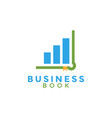 business book education graphic design template vector image vector image