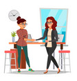 business partnership concept two business vector image vector image
