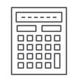 calculator thin line icon mathematics and vector image vector image