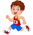 Cartoon boy follow the race vector image vector image