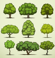 Cartoon deciduous trees vector image vector image