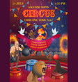 chapiteau circus show performers and animals vector image vector image