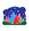 children s room with a set of toys vector image