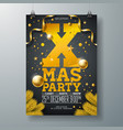Christmas party flyer design with holiday vector image