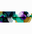 circle abstract background with triangular shapes vector image vector image