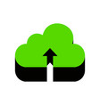 cloud technology sign green 3d icon with vector image vector image