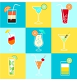 Cocktails Party Icons Set vector image vector image