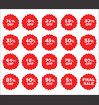collection red discount price tag label vector image
