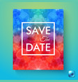 colorful abstract save date wedding invitation vector image vector image