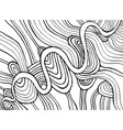 coloring page abstract pattern maze wavy of vector image vector image